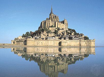 Mont Saint Michel in Francia